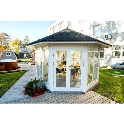 """NYHED 10 m² PAVILLON """"SUN"""" Med ekstra store vinduer"""