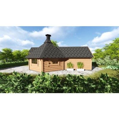 9.2 m² GRILLHYTTE MED SAUNA (4.3 m²)