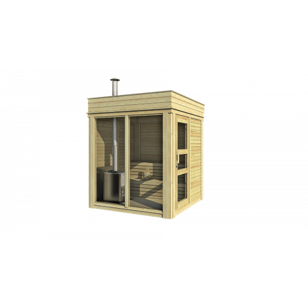 Viking Outdoor Vildmarksbad Udendørs Sauna Grillhytte Og
